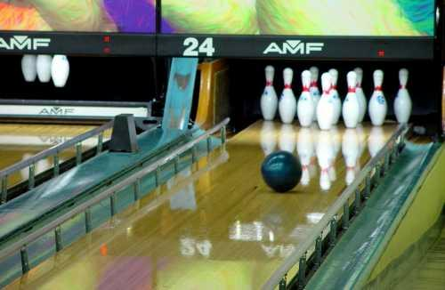 Bowling ball looking good for a strike