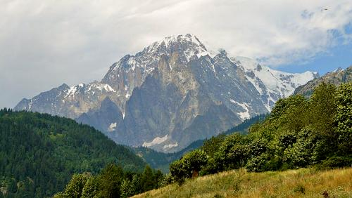 Mont Blanc as seen from Aosta Valley