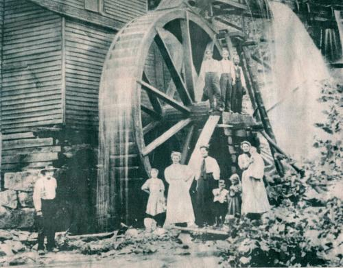 Bush Mill with Bond family, circa late 1800s
