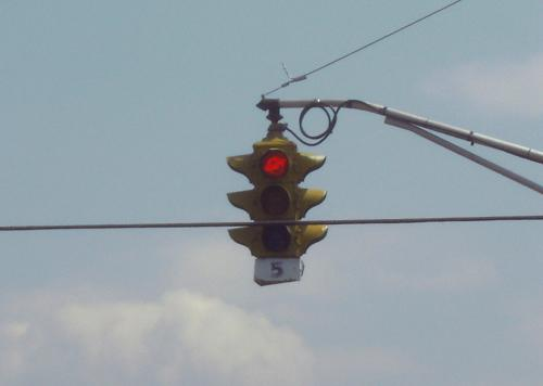 old traffic signal, Johnson City, Tennessee