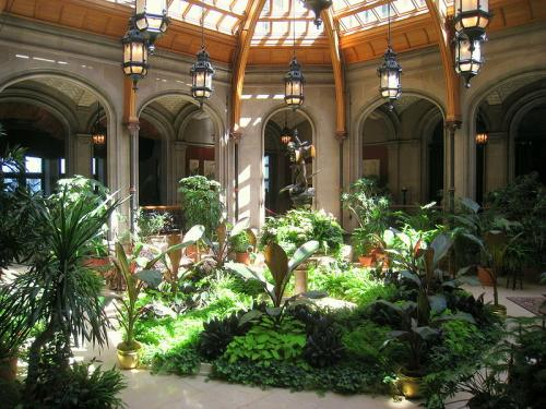indoor garden room at Biltmore Estate, Asheville, North Carolina