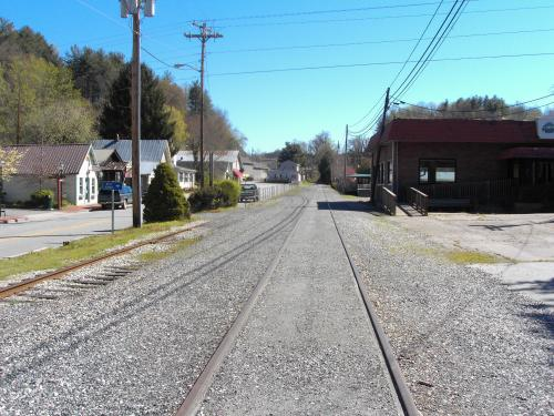 end of the line of the Great Smoky Mountains Railroad, Dillsboro, North Carolina