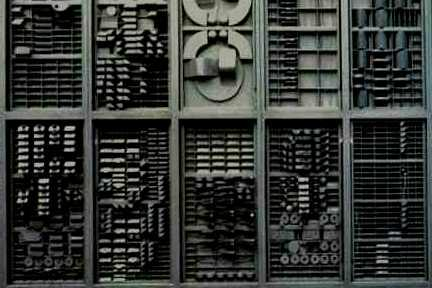 detail of Louise Nevelson work