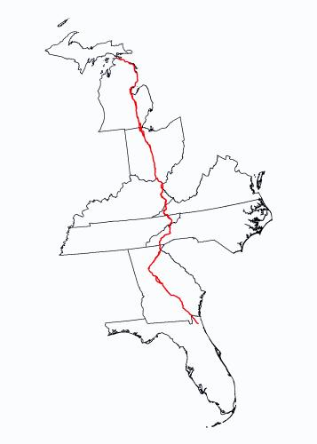 US-23 route map