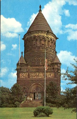 President Garfield Memorial, Lakeview Cemetery, Cleveland, Ohio postcard