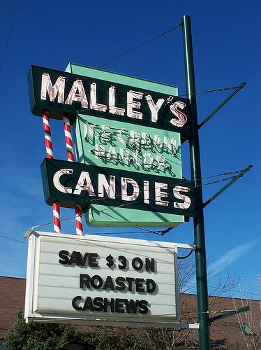 Malley's Candies sign, Lakewood, Ohio