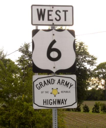 Grand Army of The Republic Highway sign, Indiana