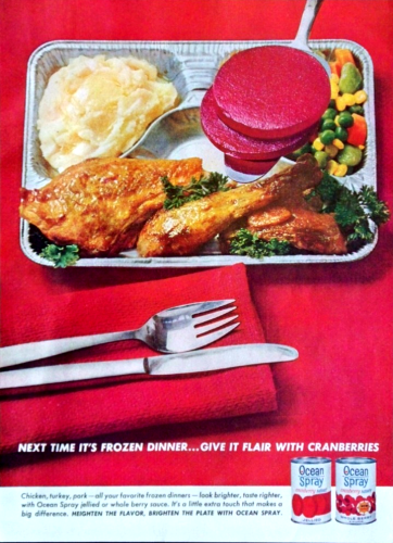 1962 Ocean Spray cranberry sauce ad