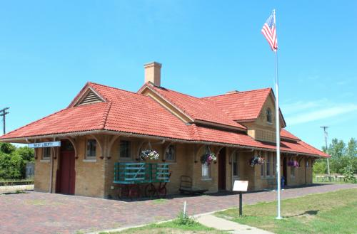West Liberty, Iowa railroad depot