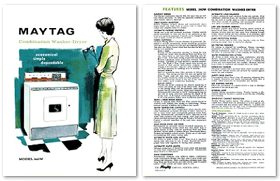 Front of 1962 Maytag sales brochure