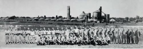 United Brick and Tile employees, Adel, Iowa, about 1939
