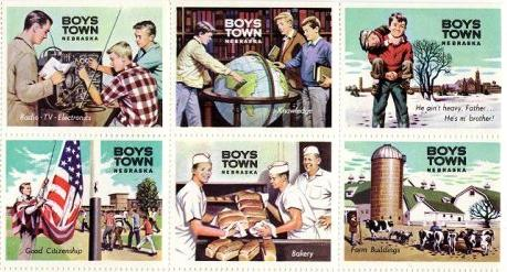Boys Town Special Spring charity mail seals, 1962