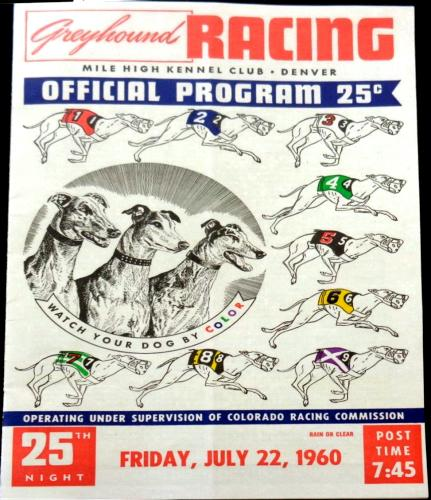 1960 program from the Mile High Kennel Club, Denver, Colorado