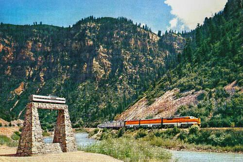 Dome car monument, Glenwood Canyon, Colorado