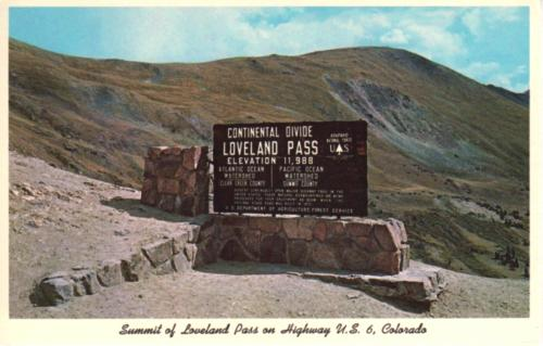 Sign at Loveland Pass, Colorado