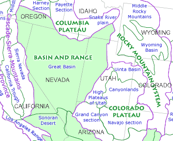 Basin and Range zone of the American West