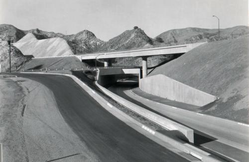 US-6 at US-99 interchange, Newhall Pass, California,  1955