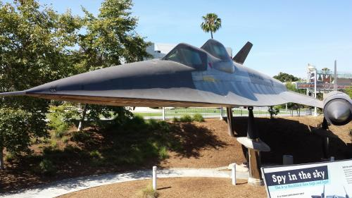 1962 A-12 Blackbird spy plane at Los Angeles County Museum of Natural History, Los Angeles, California