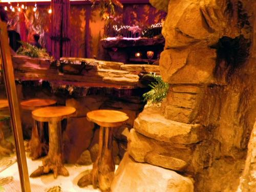 Seating grotto in Clifton's Cafeteria, Los Angeles, California