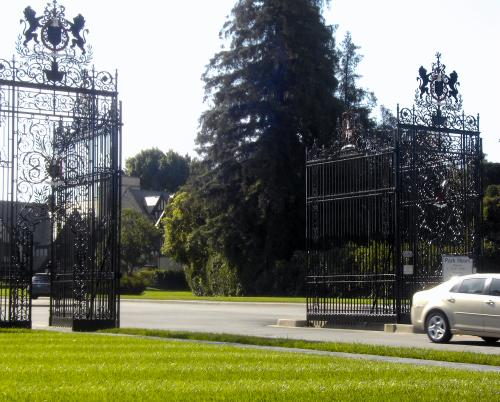 Entrance gates to Forest Lawn Memorial Park, Glendale, California