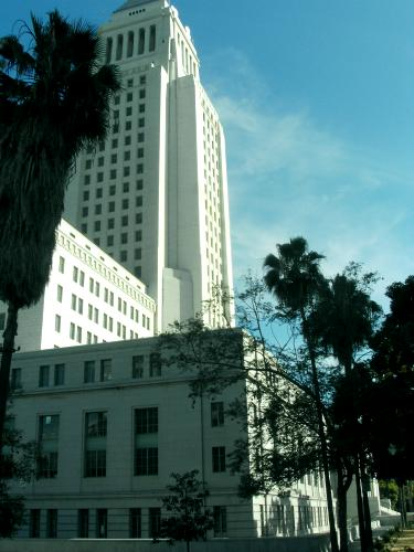 Tower of Los Angeles City Hall, Los Angeles, California