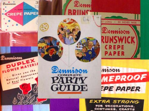 crepe paper from Dennison
