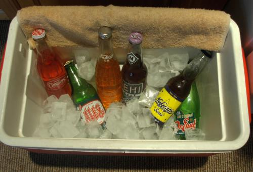cold drinks on ice, 1962 flavors