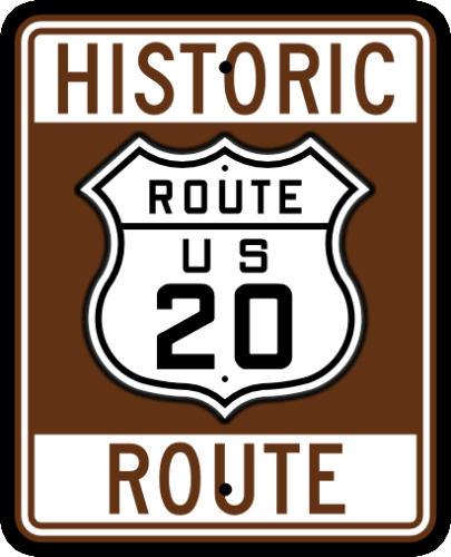 Historic US-20 Route Sign