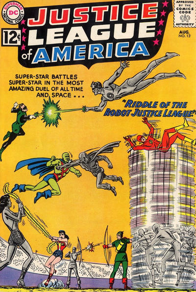 Cover of Justice League of America comic, August 1962