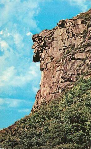 Old Man of the Mountain, New Hampshire, postcard ca. 1960s