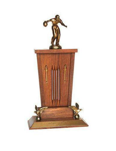 bowling trophy from 1962, Dick Hawkins