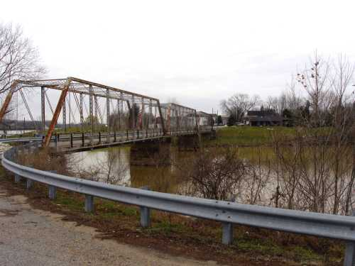 steel truss bridge, old US-23, Greenup, Kentucky