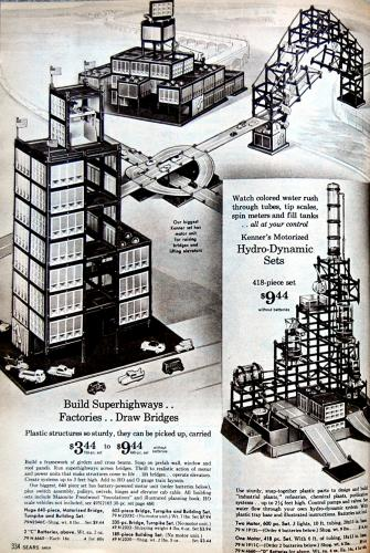 Kenner Girder And Panel Sets, from Sears 1962 Christmas Catalog