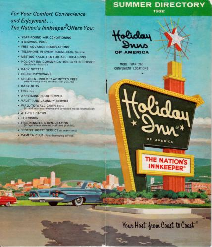 Cover of the 1962 Holiday Inns of America Summer Directory