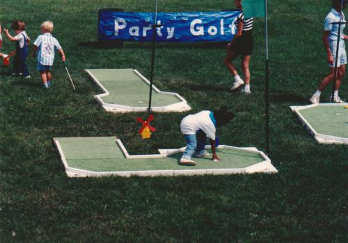 Party Golf portable miniature golf course, 1988.