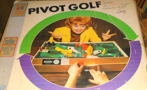 Pivot Golf game box top, by Milton Bradley, 1962 (from online auction)