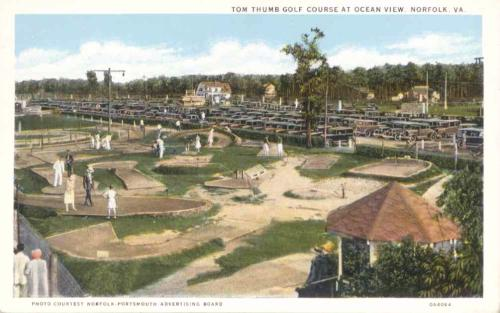 Tom Thumb Golf course at Ocean View, Norfolk, Virginia, 1920s postcard