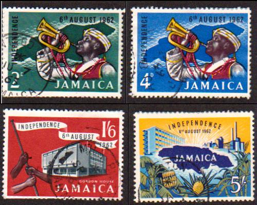 Jamaican independence stamps, 1962