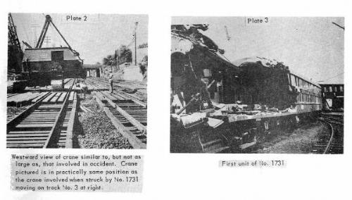 Photos from ICC investigation of Woodside, NY train wreck, 1962