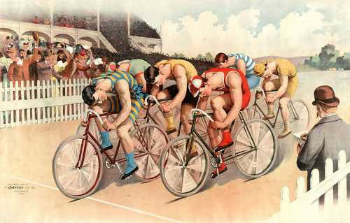 1895 bicycle race by Calvert Lithographic Co.