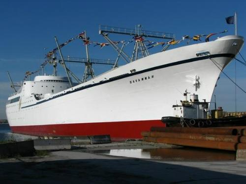 NS Savannah at dock