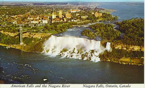 Niagara Falls, New York, 1976 postcard