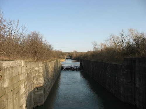 Abandoned locks of 3rd Welland Canal, Ontario, Canada