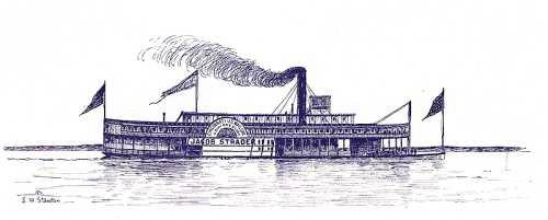 steamboat Jacob Strader by Samuel Ward Stanton