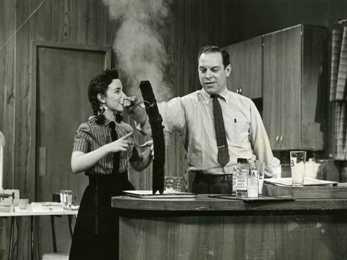 Don Herbert as Mr. Wizard on television