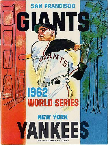 1962 World Series official program cover