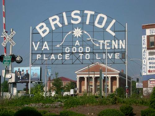 Welcome to Bristol sign, Bristol, Tennessee–Virginia