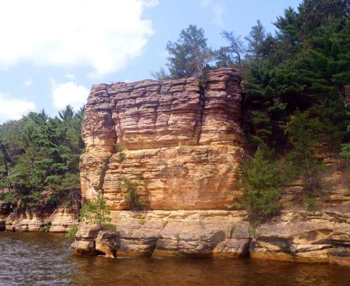 Rock formation of the Wisconsin Dells on the Wisconsin River
