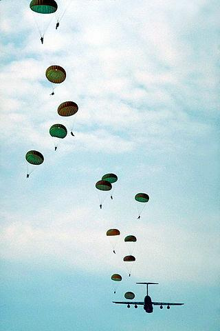 United States Army paratroopers training at Fort Bragg, North Carolina