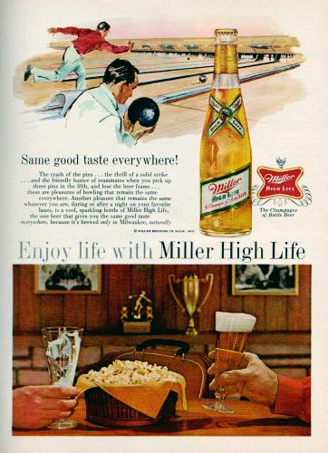 Miller High Life beer magazine ad, 1962